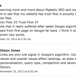 Majestic admits their metrics mean nothing in terms of Google rankings
